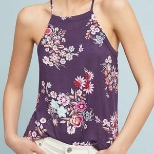 Anthropologie Floral En Elly Sabatia Top